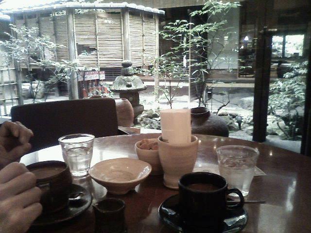 町屋のカフェで